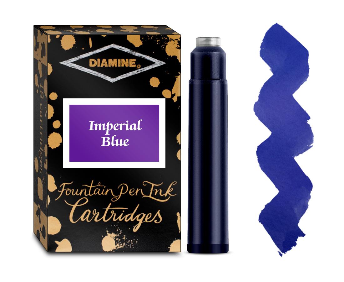 Diamine Ink Cartridge - Imperial Blue (Pack of 18)