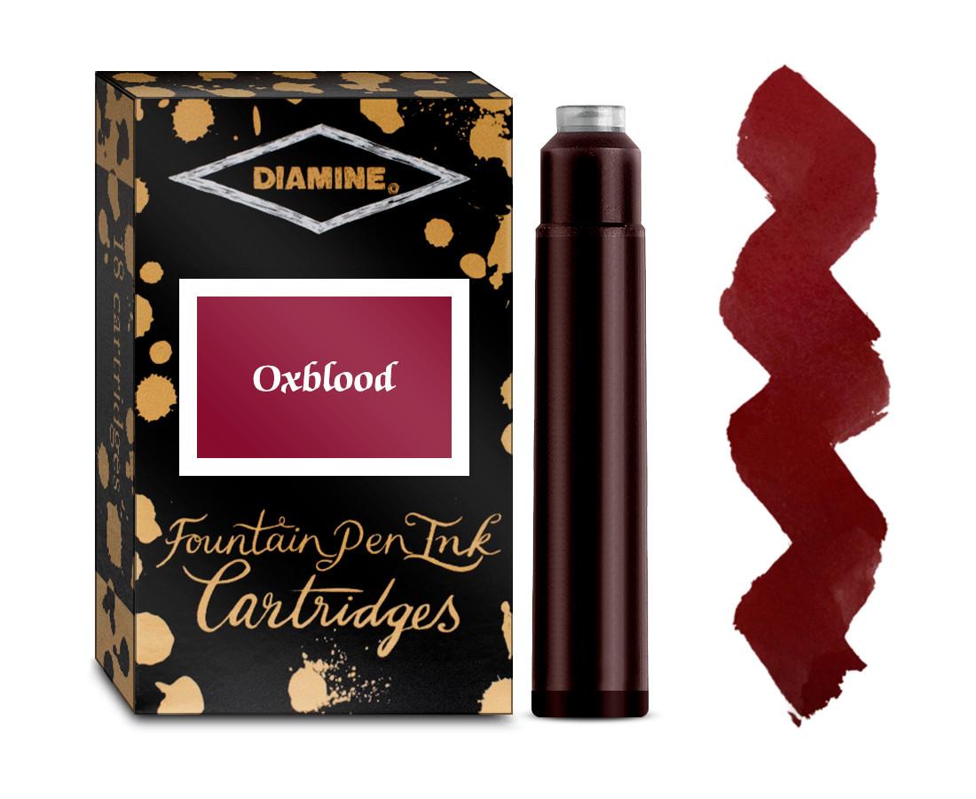 Diamine Ink Cartridge - Oxblood (Pack of 18)