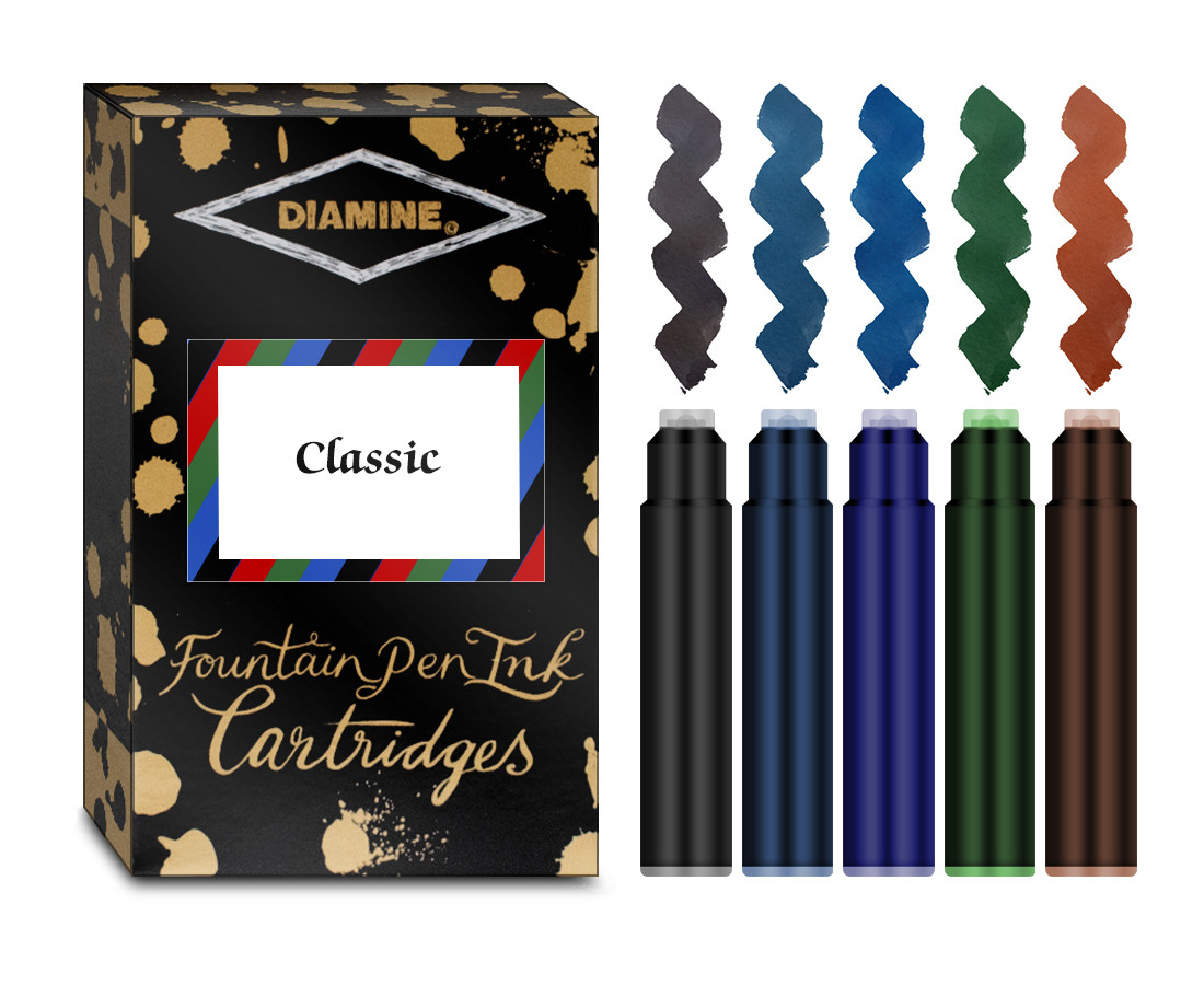Diamine Ink Cartridge - Classic Colours (Pack of 20)