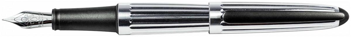 Diplomat Aero Fountain Pen - Factory Silver