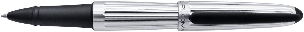 Diplomat Aero Rollerball Pen - Factory Silver