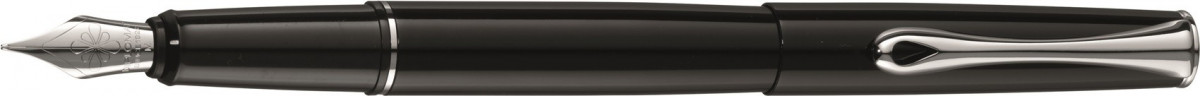 Diplomat Esteem Fountain Pen - Gloss Black Chrome Trim