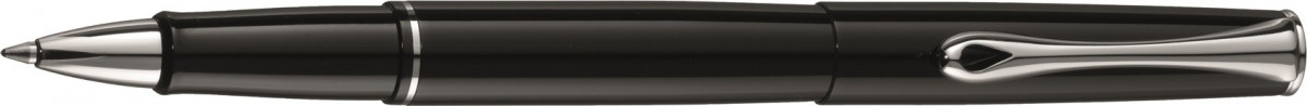 Diplomat Esteem Rollerball Pen - Gloss Black Chrome Trim