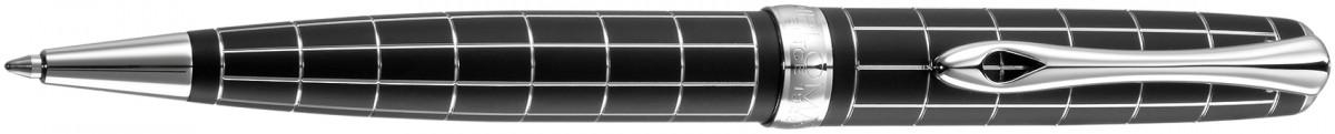 Diplomat Excellence A+ Ballpoint Pen - Rhomb Guilloche Lapis Black