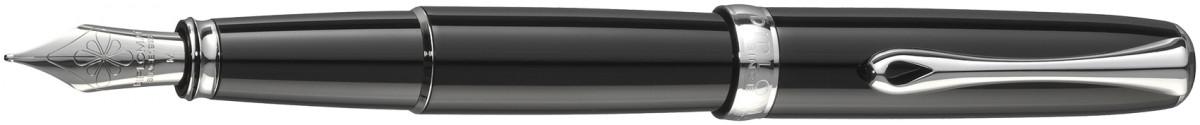Diplomat Excellence A2 Fountain Pen - Black Lacquer Chrome Trim