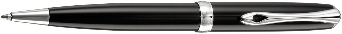 Diplomat Excellence A2 Ballpoint Pen - Black Lacquer Chrome Trim