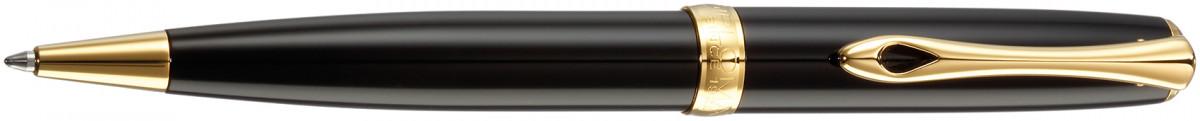 Diplomat Excellence A2 Ballpoint Pen - Black Lacquer Gold Trim
