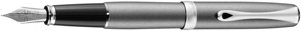 Diplomat Excellence A2 Fountain Pen - Venezia Platin Matte Chrome