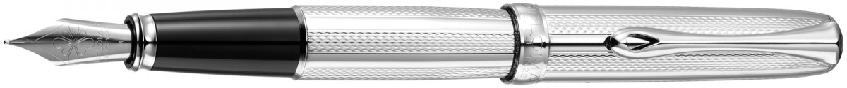 Diplomat Excellence A2 Fountain Pen - Guilloche Stripes Chrome