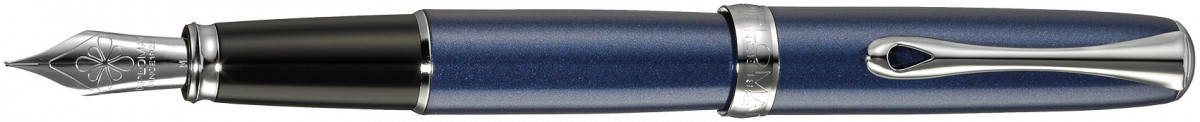 Diplomat Excellence A2 Fountain Pen - Midnight Blue Chrome Trim