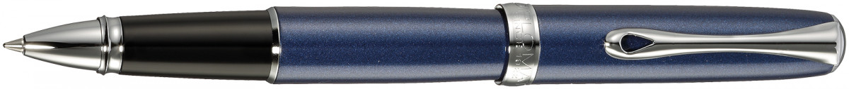 Diplomat Excellence A2 Rollerball Pen - Midnight Blue Chrome Trim