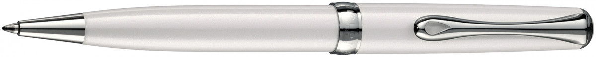 Diplomat Excellence A2 Ballpoint Pen - Pearl White Chrome Trim