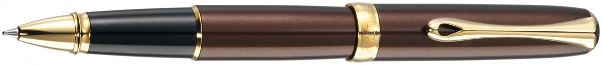 Diplomat Excellence A2 Rollerball Pen - Marrakesh Brown Gold Trim
