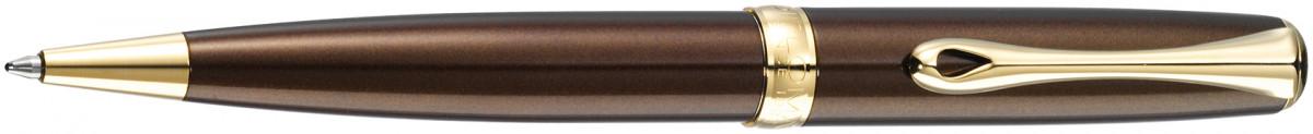 Diplomat Excellence A2 Ballpoint Pen - Marrakesh Brown Gold Trim