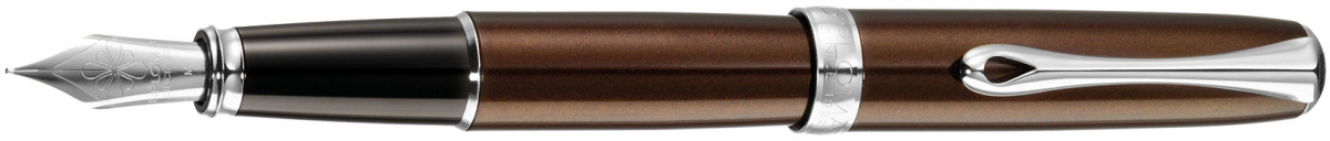 Diplomat Excellence A2 Fountain Pen - Marrakesh Brown Chrome Trim