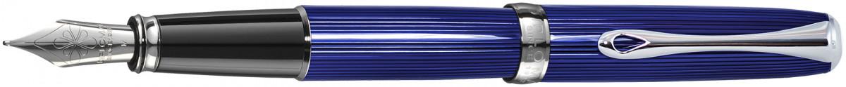 Diplomat Excellence A2 Fountain Pen - Skyline Blue Chrome Trim