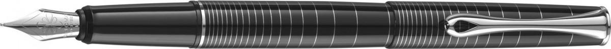 Diplomat Optimist Fountain Pen - 'Rings' Pattern Gloss Black