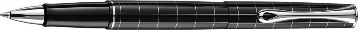 Diplomat Optimist Rollerball Pen - 'Rhomb' Pattern Gloss Black