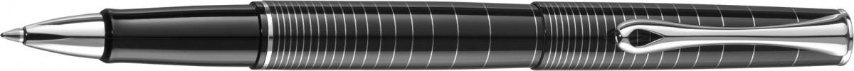 Diplomat Optimist Rollerball Pen - 'Rings' Pattern Gloss Black