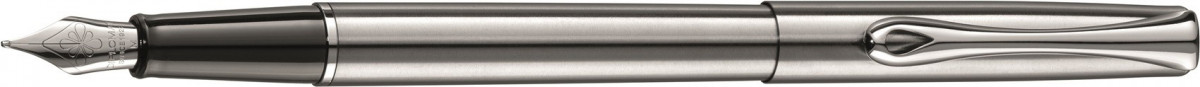 Diplomat Traveller Fountain Pen - Stainless Steel Chrome Trim