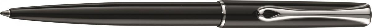 Diplomat Traveller Ballpoint Pen - Gloss Black Chrome Trim