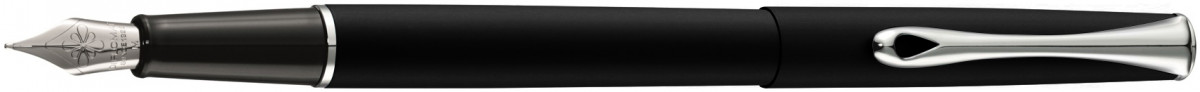 Diplomat Traveller Fountain Pen - Lapis Black Chrome Trim