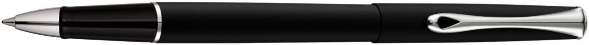 Diplomat Traveller Rollerball Pen - Lapis Black Chrome Trim