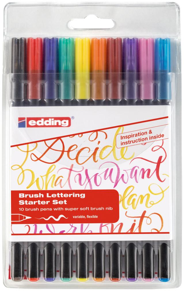 Edding 1340 Fibre Tip Pen - Assorted Colours (Wallet of 10)