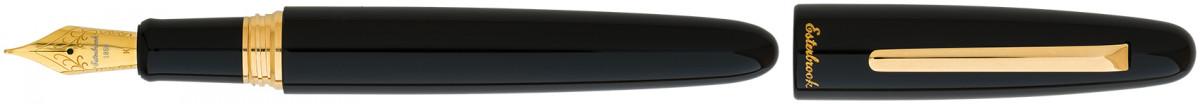 Esterbrook Estie Oversize Fountain Pen - Ebony Gold Trim