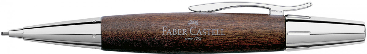 Faber-Castell e-motion Pencil - Dark Wood and Chrome