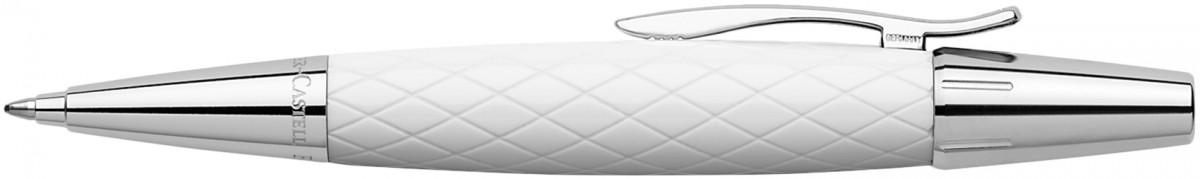Faber-Castell e-motion Ballpoint Pen - Rhombus White
