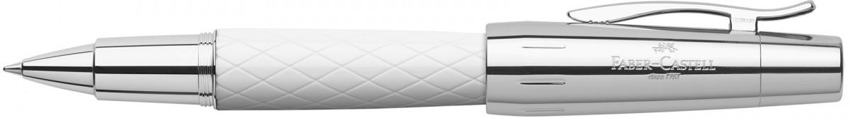 Faber-Castell e-motion Rollerball Pen - Rhombus White