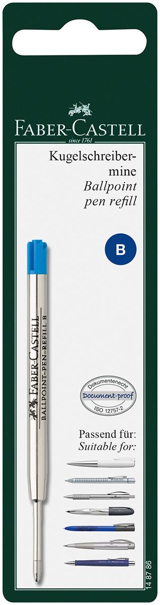 Faber-Castell Ballpoint Refill - Broad - Blue (Blister Pack)