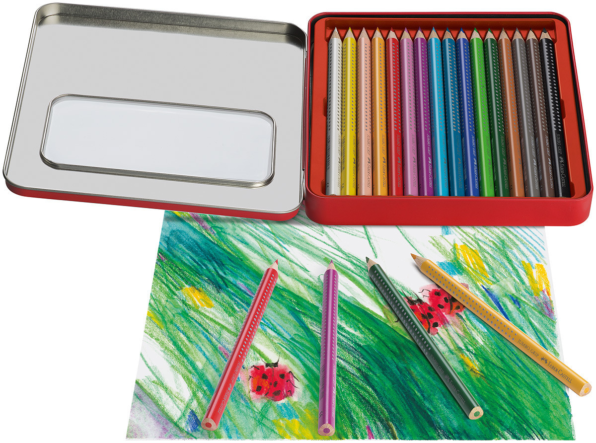 fabercastell jumbo grip colouring pencils  assorted