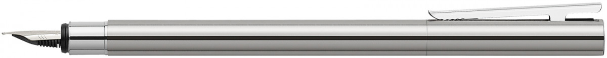 Faber-Castell Neo Slim Fountain Pen - Shiny Stainless Steel