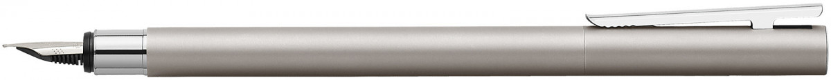 Faber-Castell Neo Slim Fountain Pen - Matte Stainless Steel