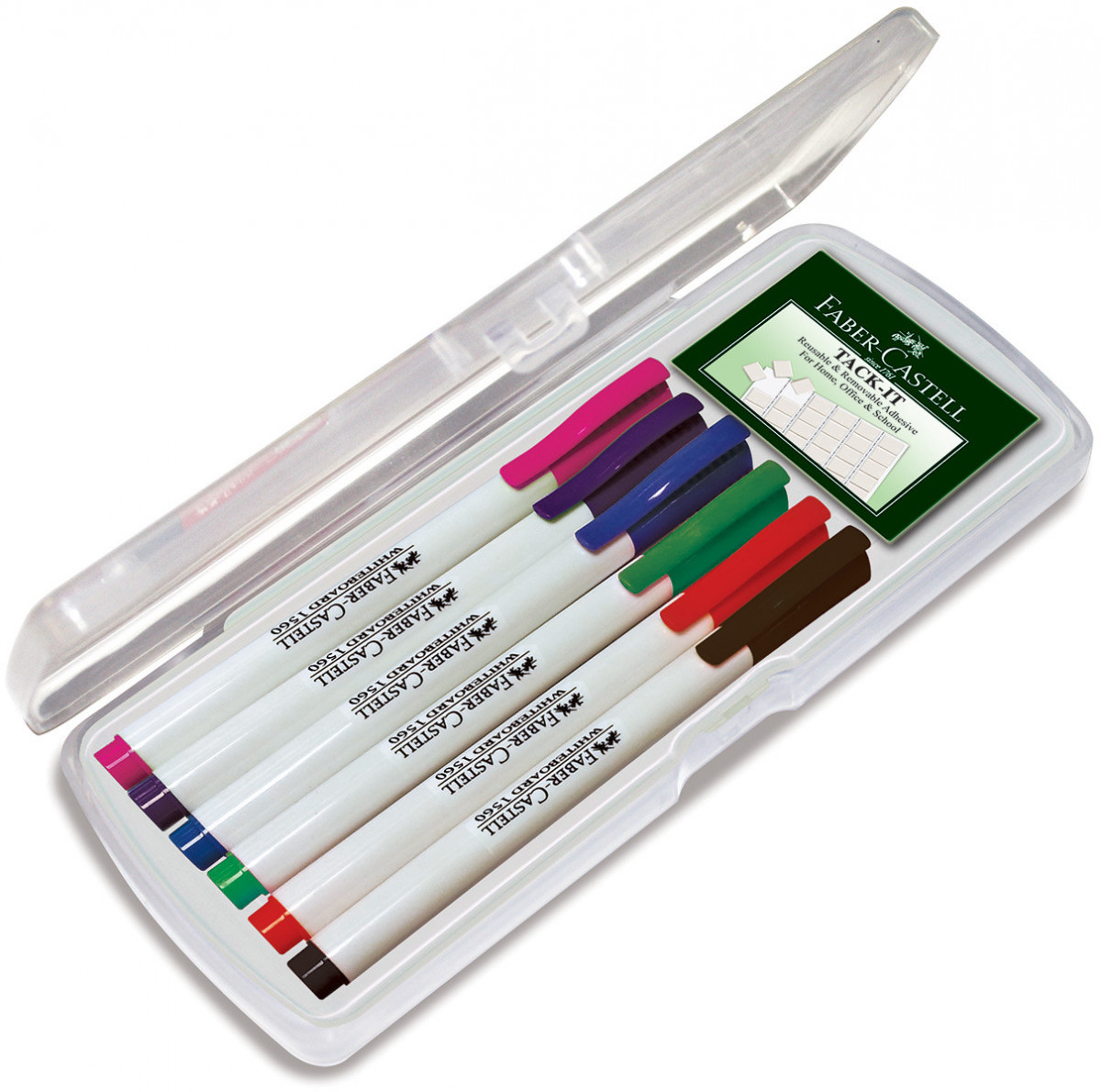 Faber-Castell 1560 Slim Whiteboard Marker - Assorted Office Colours (Pack of 6)