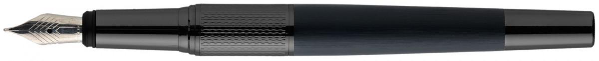 Hugo Boss Dual Fountain Pen - Gun & Navy
