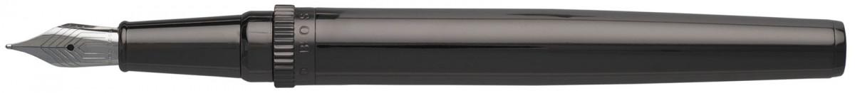 Hugo Boss Gear Fountain Pen - Metal Dark Chrome