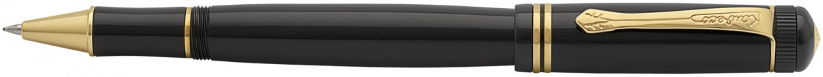 Kaweco DIA 2 Rollerball Pen - Black Gold Trim