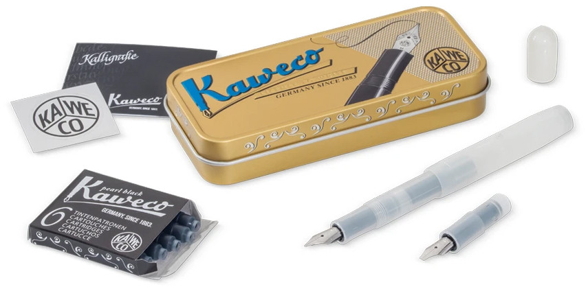 Kaweco Frosted Sport Calligraphy Set - Natural Coconut (Mini)