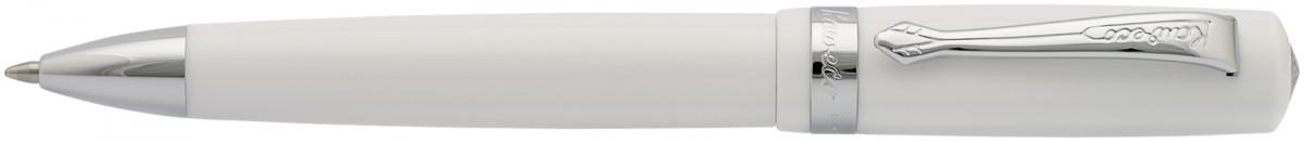 Kaweco Student Ballpoint Pen - White Chrome Trim