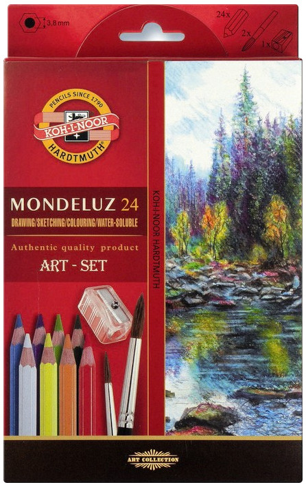 Koh-I-Noor 3711 Aquarell Coloured Pencils - Assorted Colours (Pack of 24)