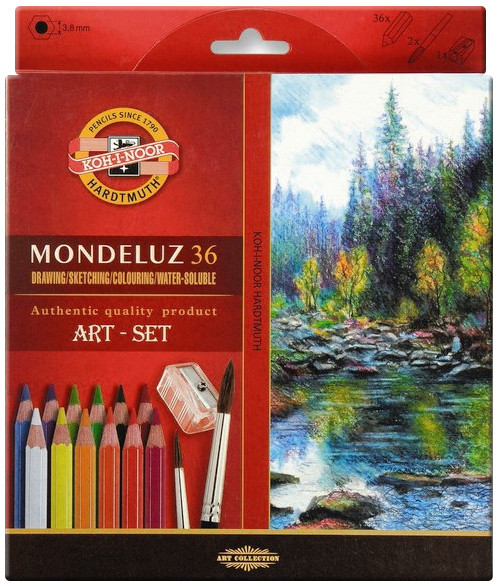 Koh-I-Noor 3712 Aquarell Coloured Pencils - Assorted Colours (Pack of 36)