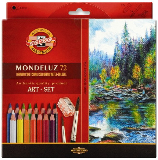 Koh-I-Noor 3714 Aquarell Coloured Pencils - Assorted Colours (Pack of 72)