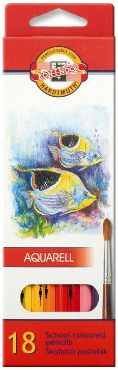 Koh-I-Noor 3717 Aquarell Coloured Pencils - Assorted Fish Colours (Pack of 18)