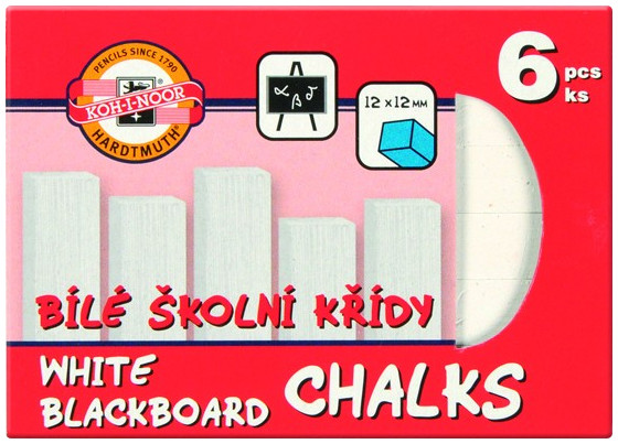 Koh-I-Noor White Blackboard Chalks (Pack of 6)