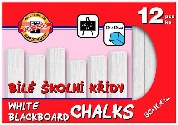Koh-I-Noor White Blackboard Chalks (Pack of 12)