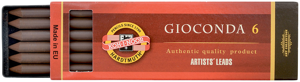 Koh-I-Noor 4377 Drawing Chalks - 5.6mm x 120mm - Sepia Light Brown