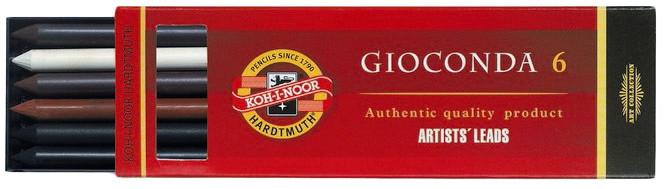 Koh-I-Noor 4869 iiii Drawing Chalks - 5.6mm - Assorted Colours (Pack of 6)